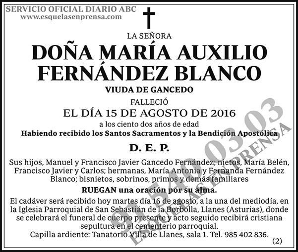 María Auxilio Fernández Blanco